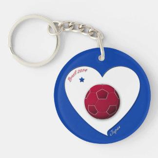 Japanese Nippon National Soccer Team Japan 2014 Keychain