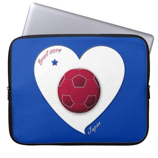 Japanese Nippon National Soccer Team Japan 2014 Laptop Computer Sleeves