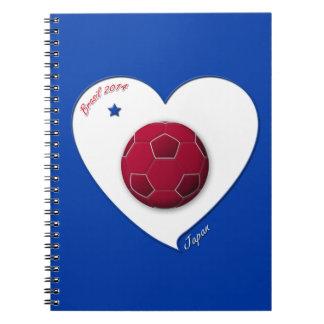 Japanese Nippon National Soccer Team Japan 2014 Libretas Espirales