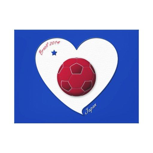 Japanese Nippon National Soccer Team Japan 2014 Impresion En Lona