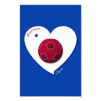 Japanese Nippon National Soccer Team Japan 2014 Art Photo