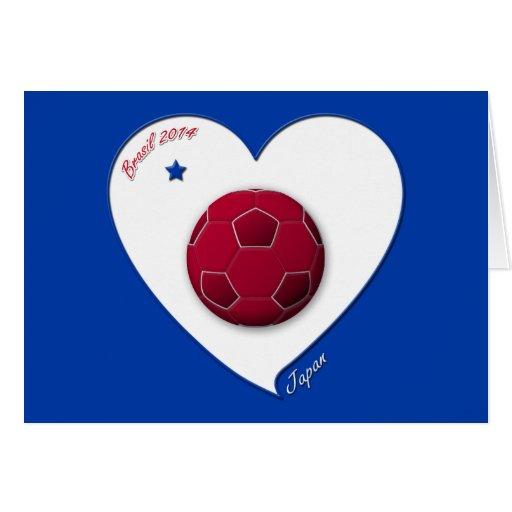 Japanese Nippon National Soccer Team Japan 2014 Felicitación