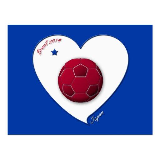Japanese Nippon National Soccer Team Japan 2014 Postal