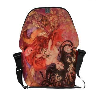Japanese Noh Mask Fantasy Messenger Bag