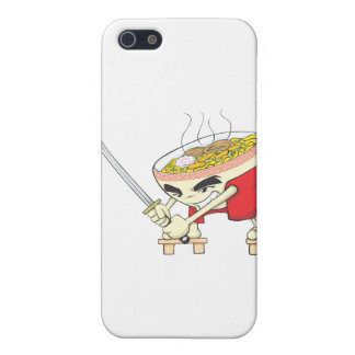Japanese Noodle Soup Fighter with Samurai Sword iPhone 5 Cases