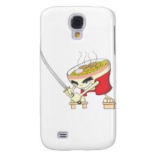 Japanese Noodle Soup Fighter with Samurai Sword Samsung Galaxy S4 Cover