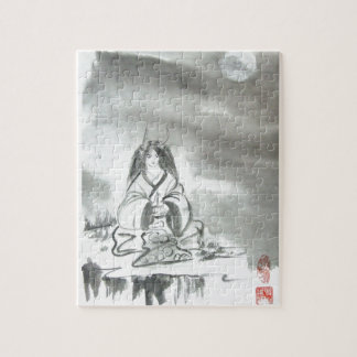 Japanese Oni Mountain Spirit Art Jigsaw Puzzle