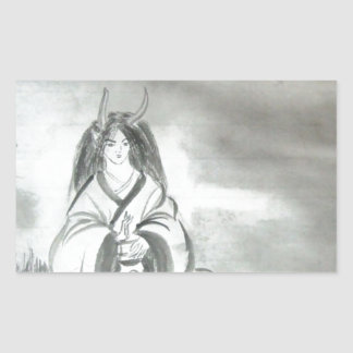 Japanese Oni Mountain Spirit Art Sticker