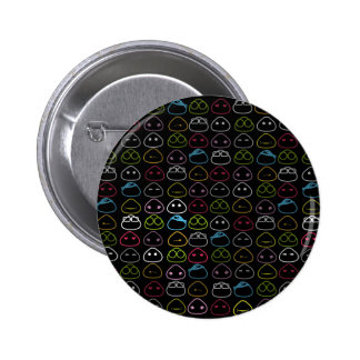 Japanese Onigiri Fluo Pattern Button