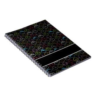 Japanese Onigiri Fluo Pattern Spiral Notebook