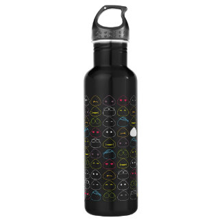 Japanese Onigiri Fluo Pattern Stainless Steel Water Bottle