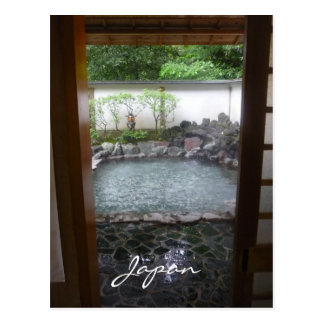 japanese onsen postcard
