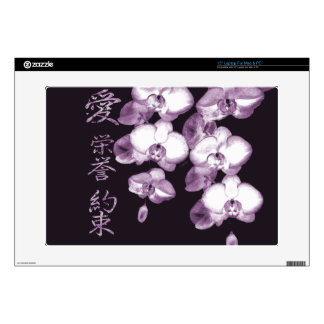 Japanese Orchids 15 Laptop Decal