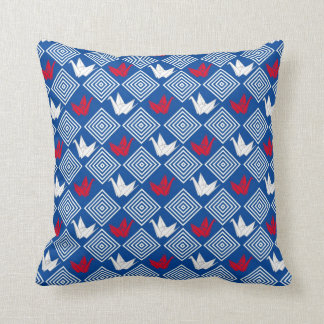 Japanese Origami Cranes Pattern Orizuru Pillow