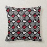 Japanese Origami Cranes Pattern (Orizuru) Throw Pillows