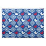 Japanese Origami Cranes Pattern (Orizuru) Cloth Placemat