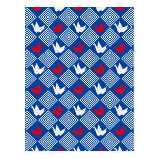 Japanese Origami Cranes Pattern (Orizuru) Postcard
