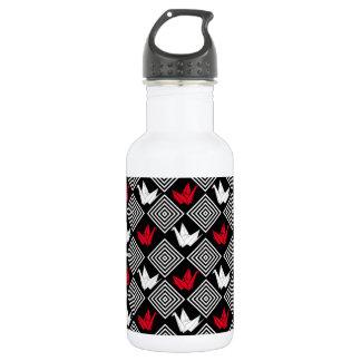 Japanese Origami Cranes Pattern (Orizuru) Stainless Steel Water Bottle