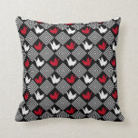 Japanese Origami Cranes Pattern (orizuru) Throw Pillow at Zazzle