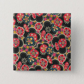 Japanese Origami Design Multi-Color Flowers Kimono Button