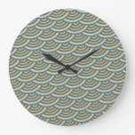 Japanese ornament pattern design large clock