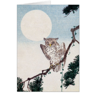 Japanese Owl no.2 Card