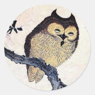 Japanese Owl Sticker