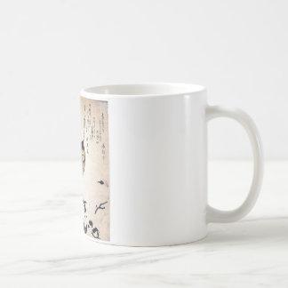 JAPANESE OWL WOODCUT ART COFFEE MUG
