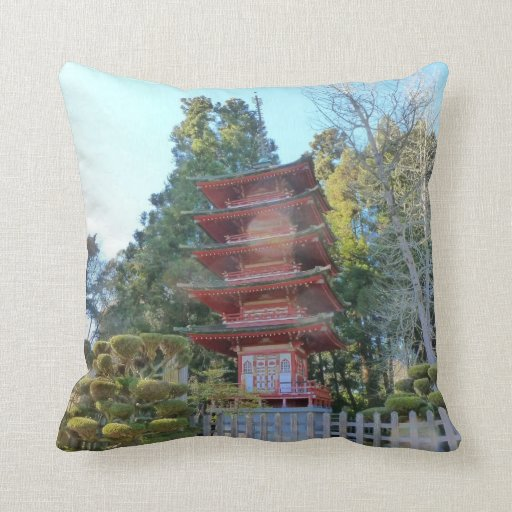 Japanese Pagoda American MoJo Pillow