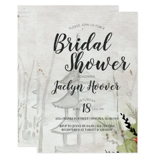 788ebba97cfa Japanese Pagoda Bridal Shower Invitation