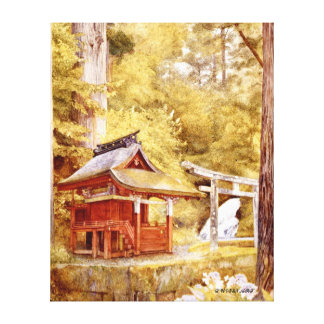 Japanese Pagoda in the Woods - Henry Newman Canvas Print
