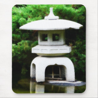 Japanese Pagoda Lantern Style Garden Statue Mouse Pad
