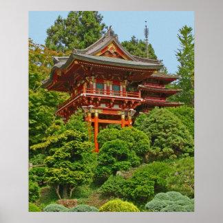 Japanese Pagoda photo painting Posters