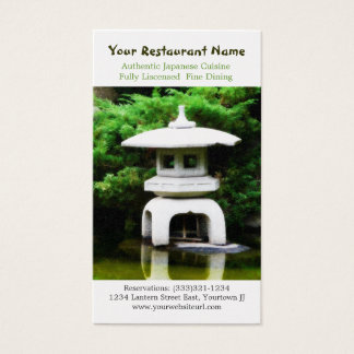 Japanese Pagoda Statue for Asian Restaurant Business Card