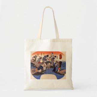 Japanese Painting c. 1800's Tote Bags