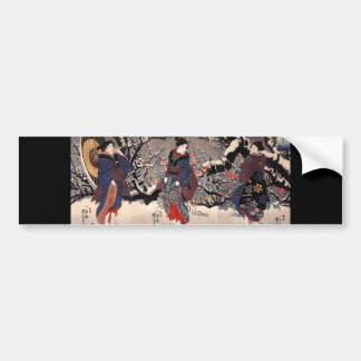 Japanese Painting c. 1800's Bumper Sticker