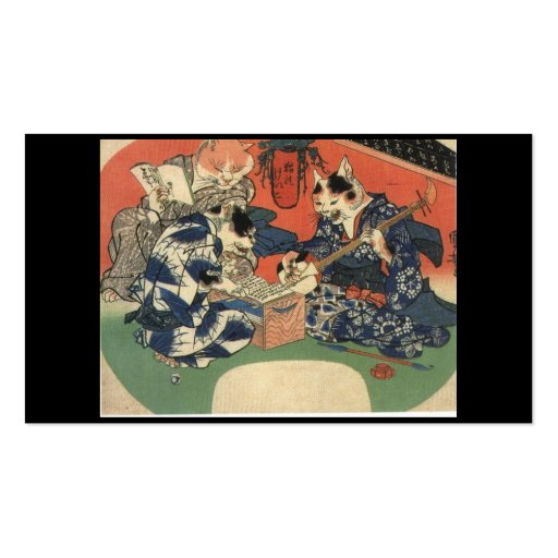 Japanese Painting c. 1800's Double-Sided Standard Business Cards (Pack Of 100)