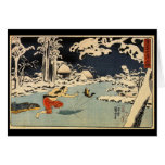 Japanese Painting c. 1800's Greeting Cards