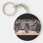 Japanese Painting c. 1800's Keychain