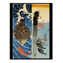 Japanese Painting c. 1800's Post Cards
