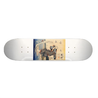 Japanese Painting c. 1800's Skateboard