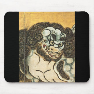 Japanese Painting of Chinese Lion c. 1500's Mouse Pad