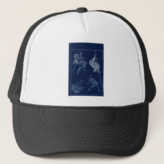Japanese Painting of woman and Mt. Fuji c. 1800's Trucker Hat