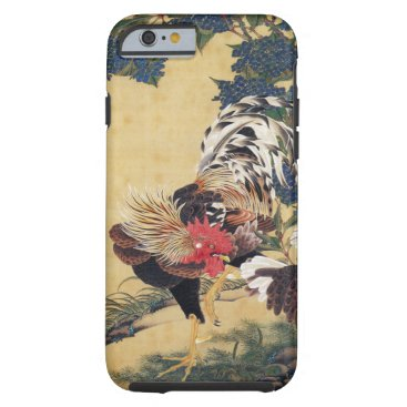 birthday Japanese painting Rooster Chinese Astrology Sign Tough iPhone 6 Case