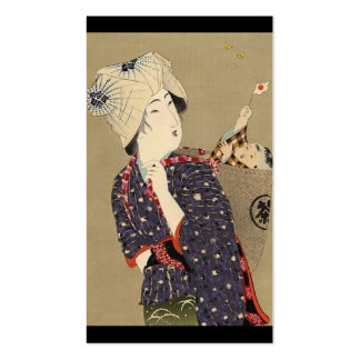 Japanese Painting. Woman with baby c. 1909 Business Cards