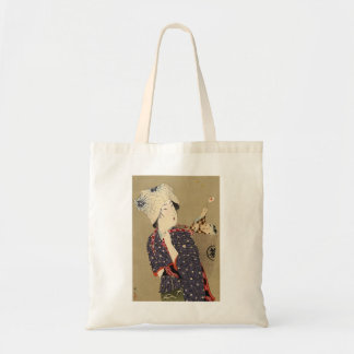 Japanese Painting. Woman with baby c. 1909 Tote Bag