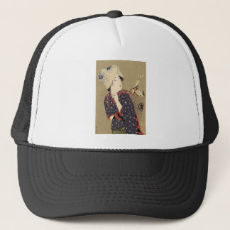 Japanese Painting. Woman with baby c. 1909 Trucker Hat