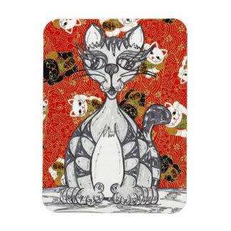 Japanese Paper Cat 3 Magnet