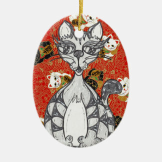 Japanese Paper Cat 3 Ornament