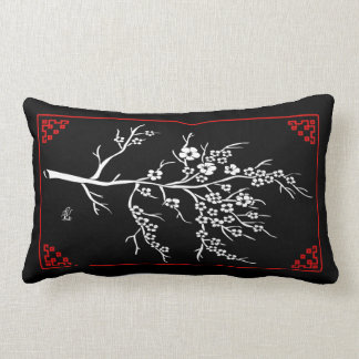 Japanese Paper Cutting Cherry Tree Lumbar Pillow